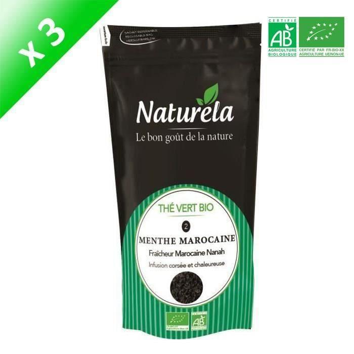 [LOT DE 3] Naturela -100g- Thé Vert Menthe n° 2 Bio