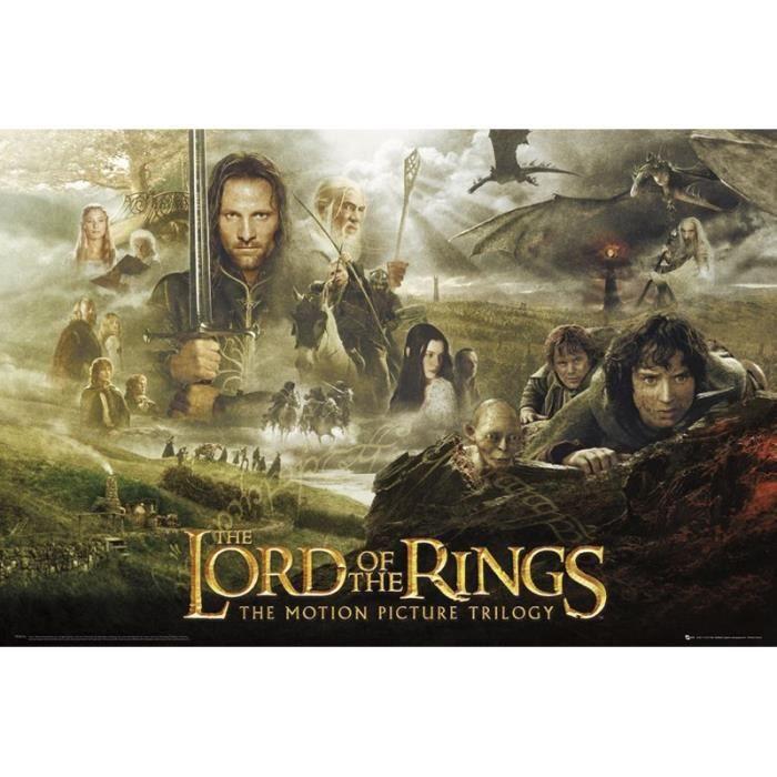 Poster Triologie Le Seigneur des anneaux
