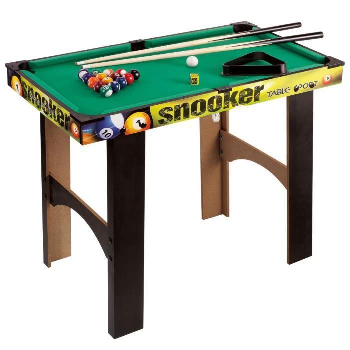 Jeux de société pour enfants table de billard en bois CB Games