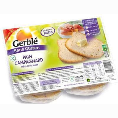 Pain campagnard sans gluten paquet de 350G Gerblé