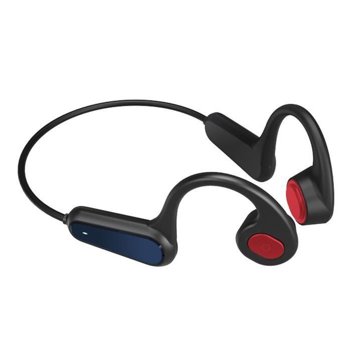 A9 Casque à Conduction Osseuse Bluetooth 5.0 Casque à Oreille Ouverte Pour Le Sport IP56 rouge