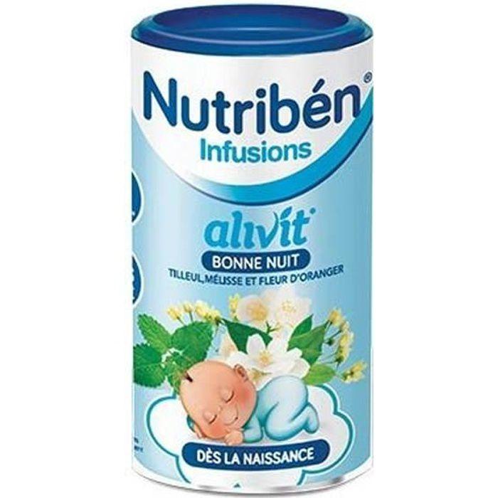 Nutribén Infusions Alivit Bonne Nuit Tilleul Mélisse Fleur d'Oranger 150g