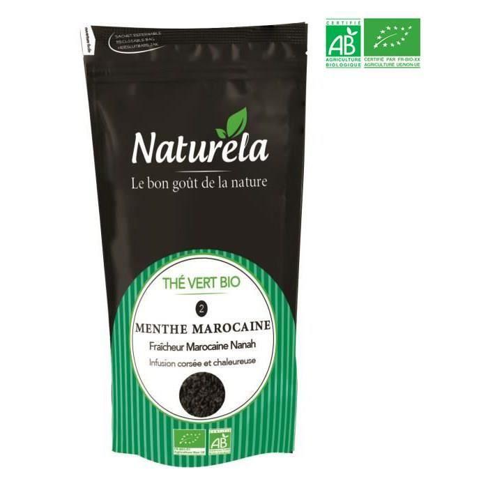 Naturela -100g- Thé Vert Menthe n° 2 Bio