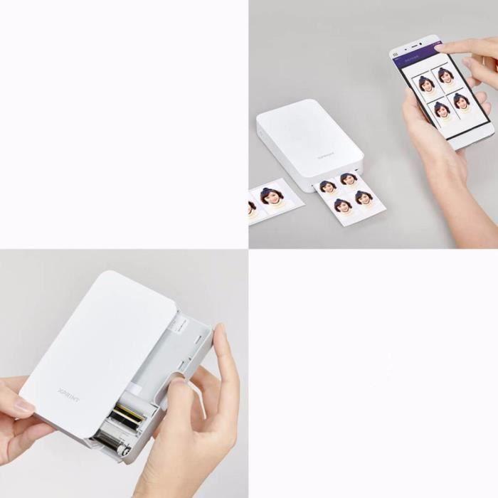 Imprimante photo mobile Xiaomi / Mijia / Extreme Print Portable Connexion Bluetooth Hd Ar Photo 16,7 millions de couleurs