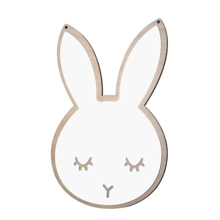1 pc miroir mignon lapin en forme de mural décalcomanie autocollants décoratif pour enfants infantile CHAINE DE COU VENDUE SEULE