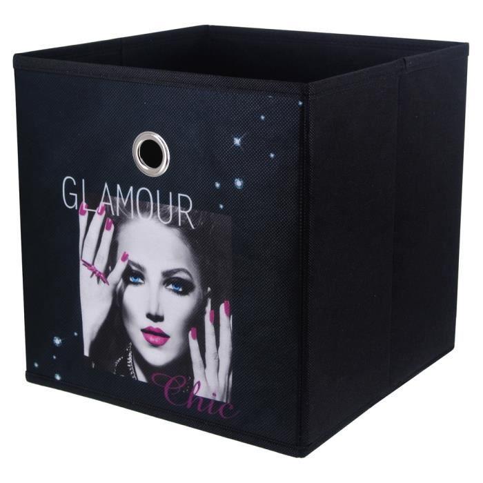 Panier De Rangement Pliable Salle De Bain Déco Glamour Chic 12cm