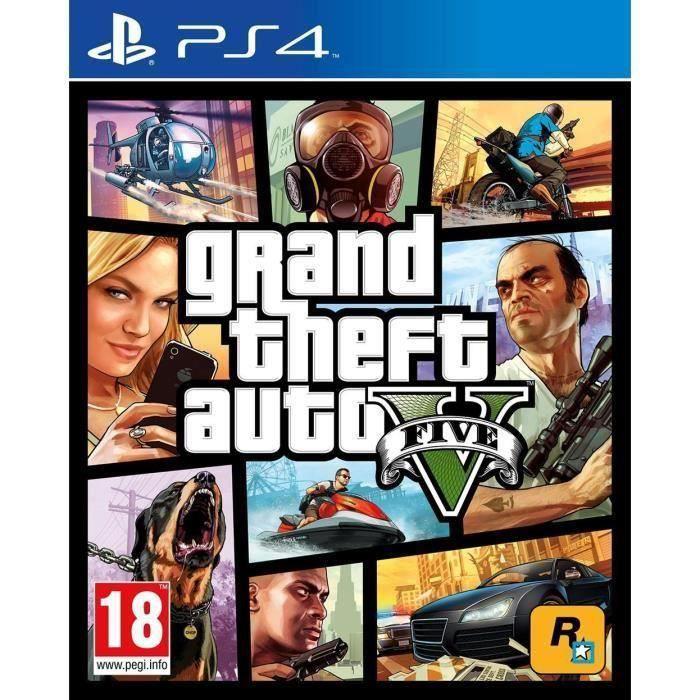 GTA V Jeu PS4 + 1 Porte clé + 2 led skin