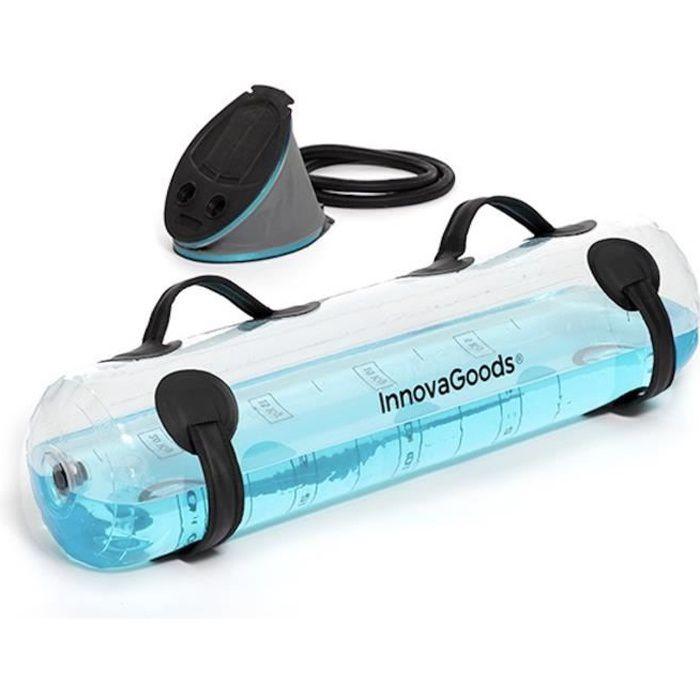 MODEZVOUS - Sac a Eau Fitness avec Guide Exercices et Pompe - Sac De Musculation Fitness 0-25 KG Water Bag