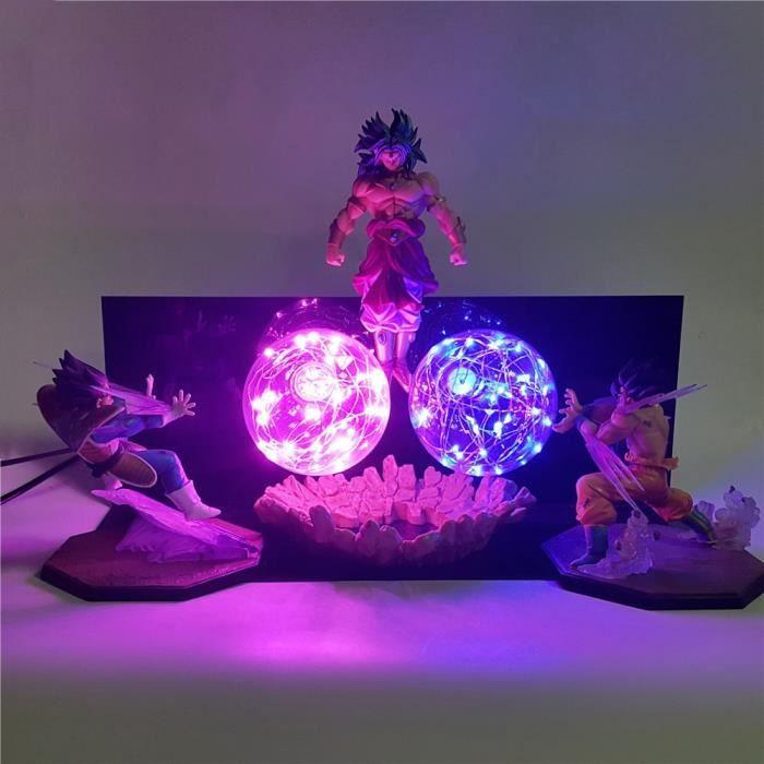 Lampe de Table Dragon Ball Z Goku végéta VS Broly veilleuses 3D LED bricolage ensemble Super Saiyan figurines d'action éclairage Lam