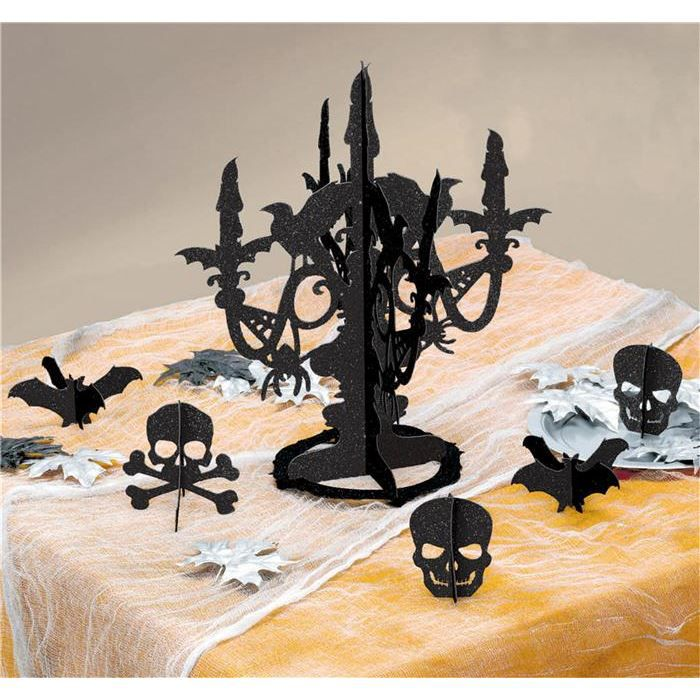 Centre de table halloween chandelier achat vente for Decoration de table halloween