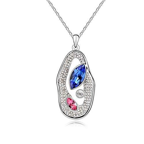 Womens Swarovski Crystals & Aaa Cubic Zircon Diamond Pendant Necklace. Daily-party Wear Fashion Je Z8HPF