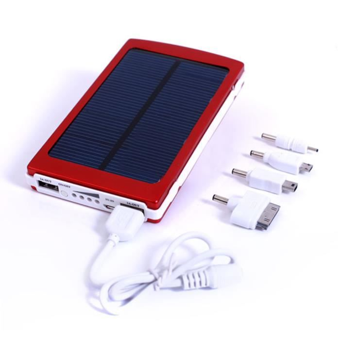 10000mah panneau solaire dual usb power bank chargeur de. Black Bedroom Furniture Sets. Home Design Ideas