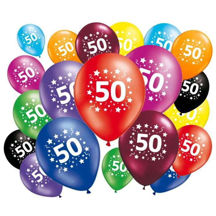 ballon anniversaire 50 ans achat vente pas cher. Black Bedroom Furniture Sets. Home Design Ideas