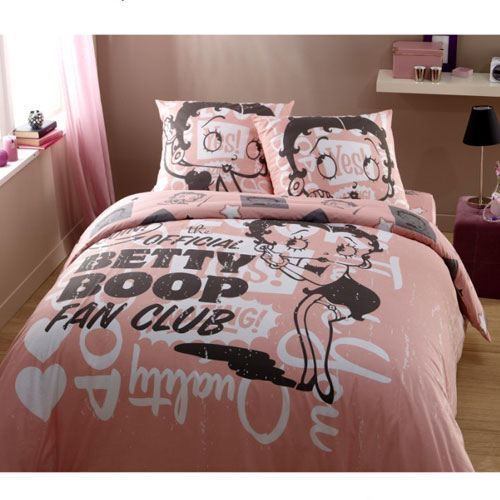 parure de lit betty boop fan club 2 places achat vente. Black Bedroom Furniture Sets. Home Design Ideas