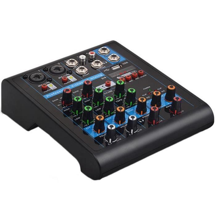TABLE DE MIXAGE Table de mixage Bluetooth professionnelle à 4 cana