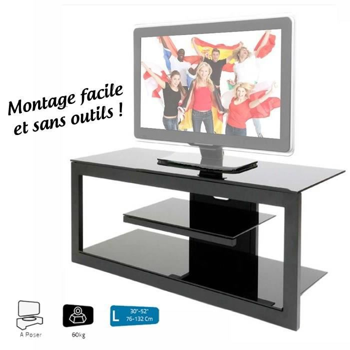 Erard aizi meuble tv 30 47 en verre tremp meuble for Meuble tv 30 euros