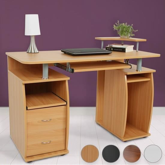 bureau avec tablette pour clavier coulissante 4 couleurs h tre achat vente bureau bureau. Black Bedroom Furniture Sets. Home Design Ideas