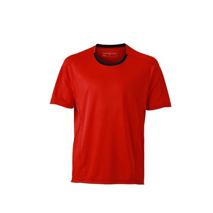 tee shirt homme running respirant tomate noir rouge achat vente t shirt cdiscount. Black Bedroom Furniture Sets. Home Design Ideas