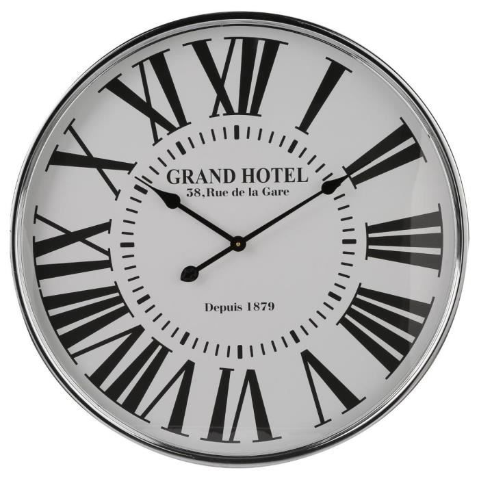 horloge murale grand hotel. Black Bedroom Furniture Sets. Home Design Ideas