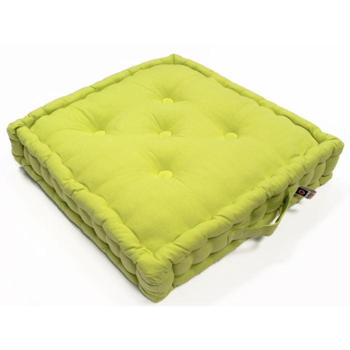 coussin tapissier 50x50x10 cm vert achat vente coussin cdiscount. Black Bedroom Furniture Sets. Home Design Ideas