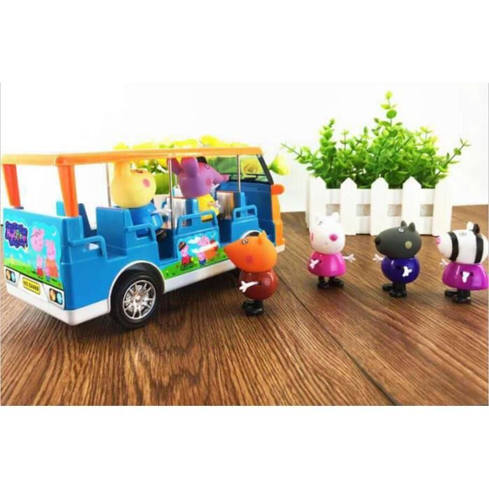 str figurine peppa pig jouet lot de 6 voiture de golf avec de la nourriture flash et la. Black Bedroom Furniture Sets. Home Design Ideas