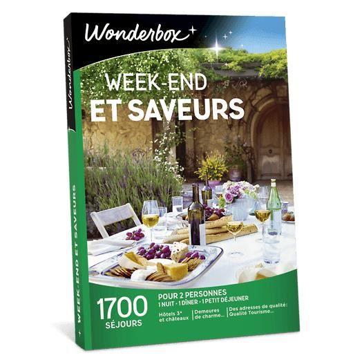 COFFRET SÉJOUR Wonderbox - Coffret cadeau - Week-end et saveurs -