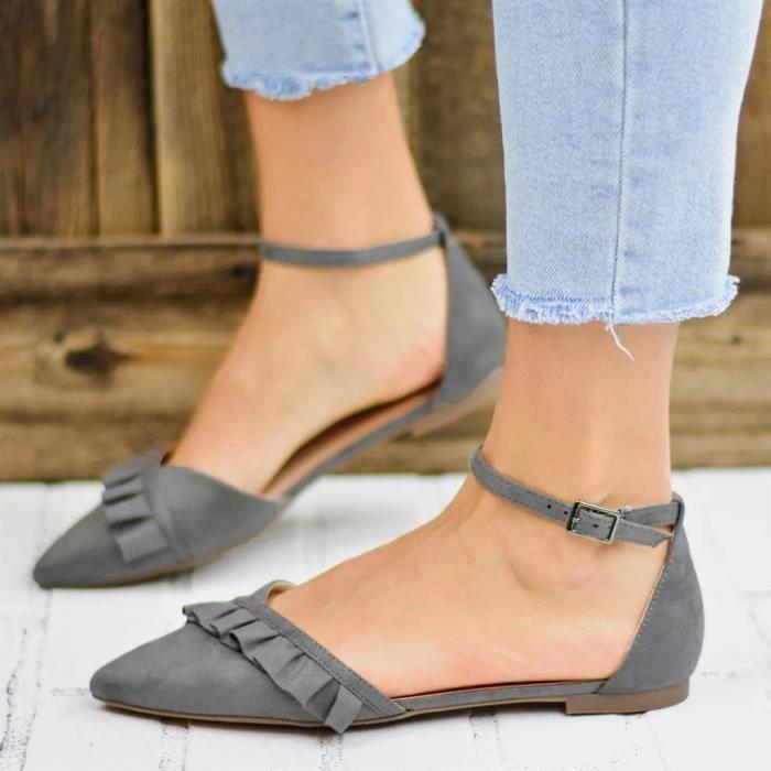 Femmes Mode Femmes Toe Flat Pointu Casual Mocassins solides Chaussures simples   Chaussures décontractées 582
