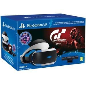 CASQUE RÉALITÉ VIRTUELLE PlayStation VR + Caméra V2 + Gran Turismo Sport  +