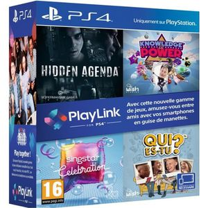 JEU PS4 Pack PlayLink PS4 : Qui es tu ? + Knowledge is Pow