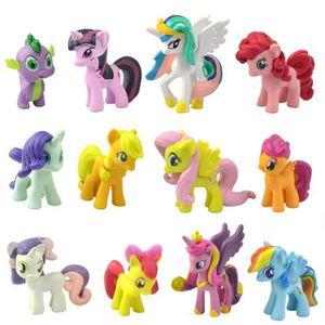 FIGURINE - PERSONNAGE 12PC - Set My Little Pony Gâteau Toppers PVC Figur
