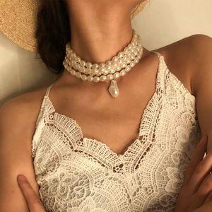 SAUTOIR ET COLLIER SAUTOIR - COLLIER Rétro Multilayer Métal perles de