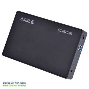 BOITIER POUR COMPOSANT Boîtier Disque Dur Externe SATA 3.5'' USB 3.0 Coul