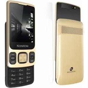 Téléphone portable Smartphone Konrow Slider Noir/Or