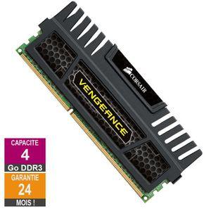 MÉMOIRE RAM Barrette Mémoire 4Go RAM DDR3 Corsair Vengeance CM