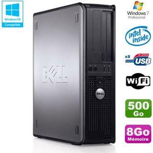 UNITÉ CENTRALE  PC DELL Optiplex 780 DT Intel E8400 3Ghz 8Go Disqu