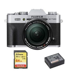 APPAREIL PHOTO RÉFLEX FUJIFILM X-T20 Silver KIT XF 18-55mm F2.8-4 Black