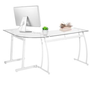 MEUBLE INFORMATIQUE Homy Casa Bureau d'angle Contemporain Table d'Angl