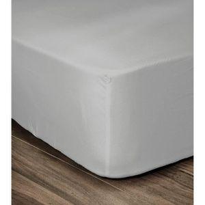 DRAP HOUSSE LOVELY HOME Drap Housse 100% coton 90x190x30 cm gr