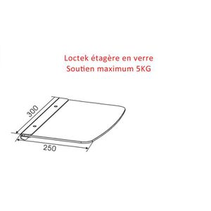FIXATION - SUPPORT TV Loctek® AV Ultra-moderne Murale étagère en verre -