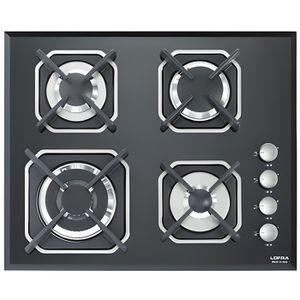 PLAQUE GAZ LOFRA HGN6H0 Mercury 60 noir table de cuisson  60C