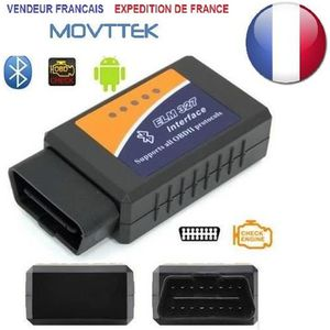 OUTIL DE DIAGNOSTIC Outil Diagnostic Movttek® Scanner ELM327 OBD2 Blue