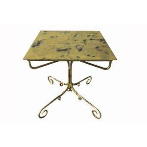 TABLE DE CUISINE  TABLE DE JARDIN CARREE EN FER