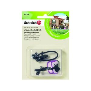 FIGURINE - PERSONNAGE SCHLEICH - Figurine 42126 Selle pour poney + harna