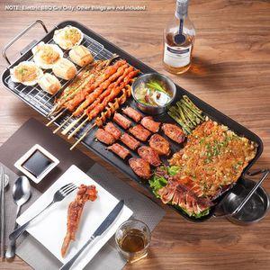 PLANCHA DE TABLE Plancha Grill Viande BBQ 1500W 5-Niveaux de Tempér