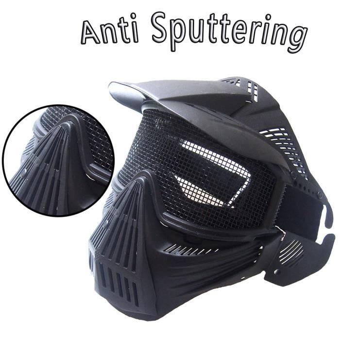 Protection sportive Airsoft tactique masque facial complet sécurité maille lunettes de protection CS LIU60930803BK_365