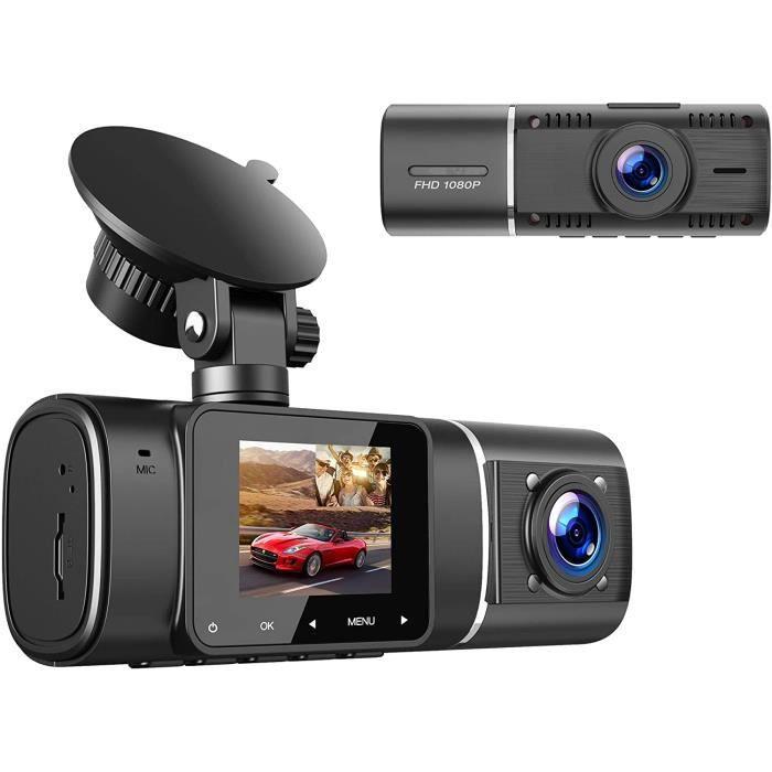 TOGUARD Caméra Dual Dash 1080P +1080P Avant et Arrière Bord avec Vision Nocturne IR, Écran LCD 1,5 Pouces à Double Objectif Grand21