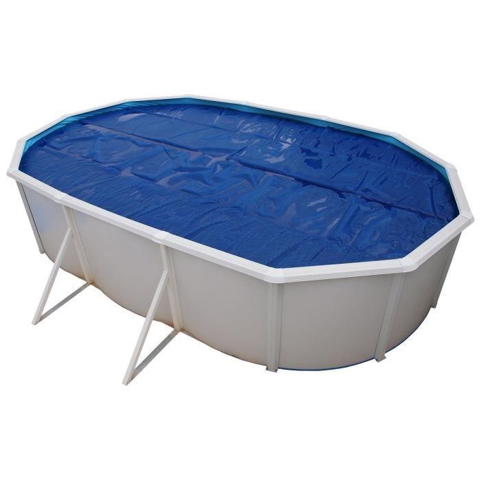 TORRENTE Bâche isotherme pour Piscine hors sol 550 cm - Bleue