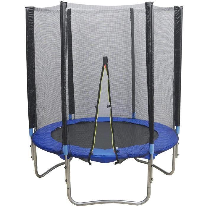 TRAMPOLINE FITNESS Trampoline pour enfant de 150 cm - Avec filet de s&eacutecurit&eacute - Diam&egravetre du trampoline ext&e32