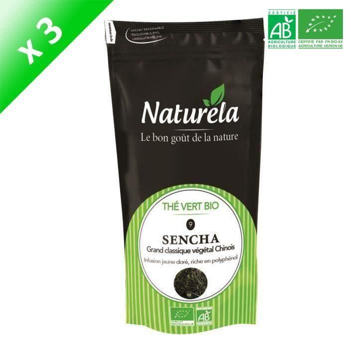 [LOT DE 3] Naturela - 80g - Thé Vert Sencha n° 9 Bio