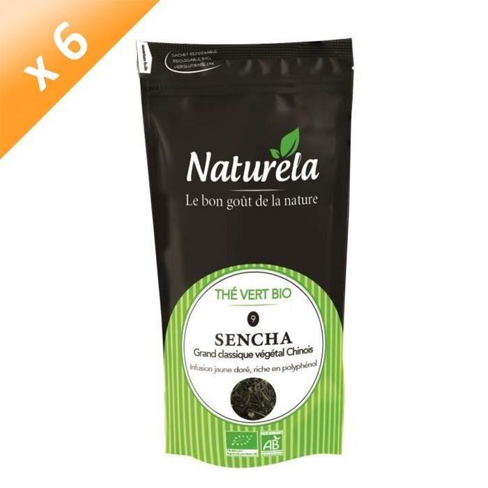 [LOT DE 6] Naturela - 80g - Thé Vert Sencha n° 9 Bio